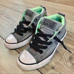 Converse   Juniors Grey High Top   Size 13